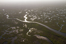 Waterways And Creeks Photographed From A Helicopter In Everglades National Park, Florida.