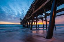 San Clemente Pier At Sunset.