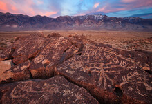 Petroglyphs In The Owens Valley, California