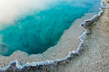 Blue Funnel Spring At West Thumb Geyser Basin, Yellowstone National Park, Wyoming
