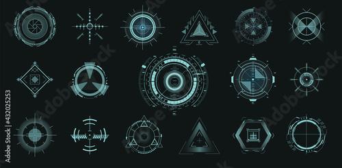 Futuristic optical aim Fototapet