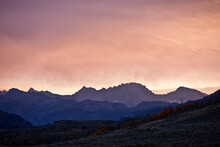 Sunset Alpenglow On The Wind River Range From Soda Lake, Bridger National Forest