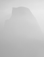 Half Dome In The Smoke From The Meadow Fire, Yosemite National Park