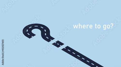 Vászonkép Where to go? Isometric vector illustration