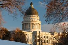 Utah State Capitol In Winter