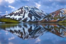 Stunning Summer Landscape Of The Volcanic Highlands In Iceland.