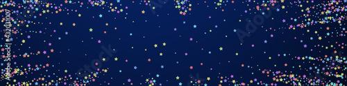 Fotografia Festive divine confetti. Celebration stars. Colorf