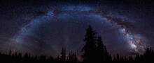 A Panorama Of The Milky Way Over The Snowy Range Of Wyoming. This Is A Revised Version Of My Earlier Image.