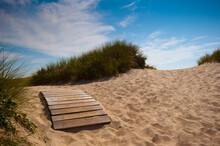 Path Along Beach Leading To Ocean On Martha's Vineyard