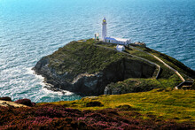 South Stack Lighthouse On The Welsh Island Of Anglesey