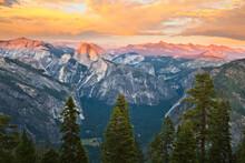 Sunset From Eagle Peak, Yosemite National Park