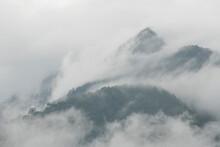 Clouds Rip Through The Tropical Forest Of Pico Bonito National Park, Honduras.