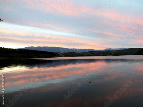Breathtaking night scenery at Domlyan dam #432034275