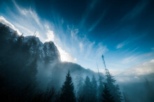 Mount Index Rises Above The Mist In Washington