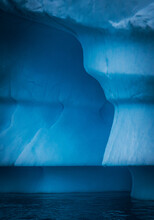 Different Shades Of Blue Of An Iceberg In Antarctica.