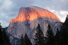 Stormy Light On Half Dome, Yosemite National Park, CA