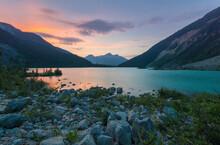 Setting Sun At Joffre Lakes Provincial Park, Canada