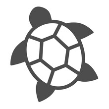 Sea Turtle Solid Icon, Worldwildlife Concept, Sea Turtle Vector Sign On White Background, Turtle Glyph Style For Mobile Concept And Web Design. Vector Graphics.