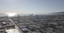 Santa Monica, California- City And Beach, Sky, View
