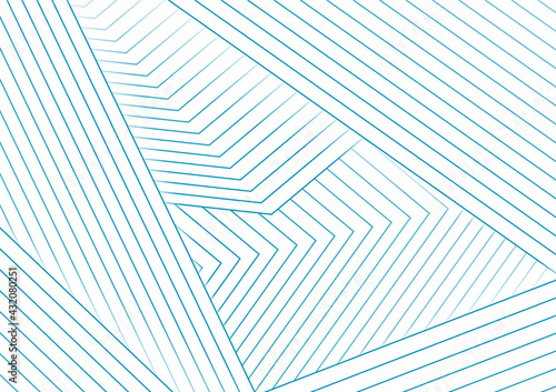 Abstract white minimal background with cyan blue lines Fototapete