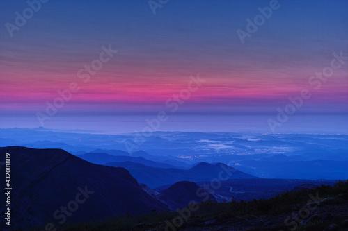 Canvas 日本の夜明け(蔵王山から仙台方面を望む)