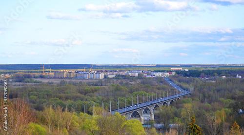 Photo View of the bridge on the embankment in Vladimir.
