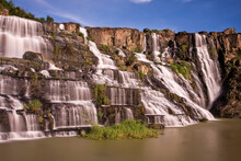 Pongour Waterfall, Central Highlands Of Vietnam, Southeast Asia