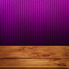 The Background Is Blank Wooden Boards And A Textured Striped Wall With Gradient Lighting And Vignetting.