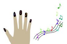 Fashion Fingernails Isolated On White Background And Textures. On White Background And Textures.