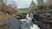 Beautiful Rogie Falls In Scotland