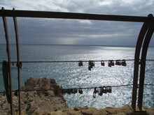 Love Padlocks By The Sea