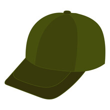 Green Cap On White Background