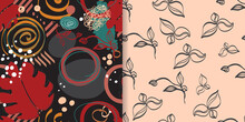 Seamless Pattern Line Pop Art Collection Bohemian Style With Whale And Moon Elements