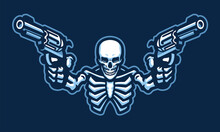 Skull Character With Two Guns