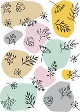 Scandinavian Botanical Textile, Scrapbooking, Wrapping Paper Pattern