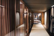 Illuminated Corridor Of Modern Office