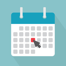 Marking A Date On The Calendar, Event Reminder Notification- Vector Illustration