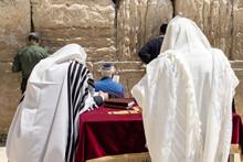 Jews Praying Near The Western Wall, Jerusalem,Israel.