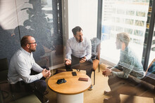 Business People Planning Strategy While Discussing During Meeting At Office