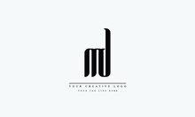Letter Logo Design With Creative Modern Trendy Typography  MD DM M D