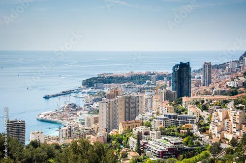 Monaco Monte Carlo von oben an einem schönen Tag während dem Grand Prix History - fototapety na wymiar