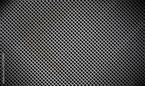 Fotografie, Obraz Dark metallic grille