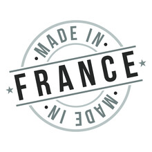 Made In France Stamp Logo Icon Symbol Design. Seal Badge Vector National Product.