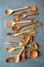 Collection Of Wood Spoons