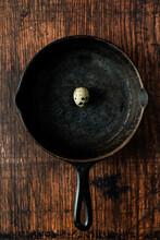 Quale Egg In Vintage Cast Iron Skillet