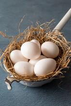 Eggs In Enameled Pot