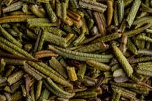 Closeup Of Dried Marjoram