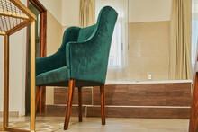 Silla Decorativa De Habitación De Hotel Para La Sala De Espera Color Esmeralda Colores Desérticos