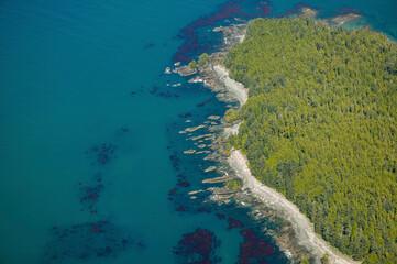 Stock Aerial Photo of North West Coast Vancouver Island British Columbia, Canada
