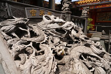 Text Is Seitengu. Seitengu, A Taiwan Temple Or A Palace In Sakado City, Saitama Prefecture In Japan. There Are 5,000 Dragon Sculptures.